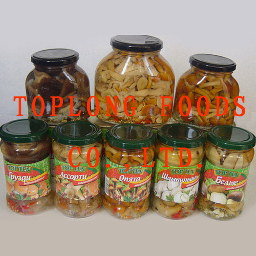 Assorted Canned Mushrooms (In Marinade, In Brine)